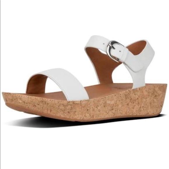 168322c35bb18a FitFlop Bon II Cork Platform Sandals Ankle Strap